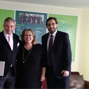 Presidente del Grupo DKV Seguros y del Circulo de Empresarios, visita nuestro proyecto en Perú.