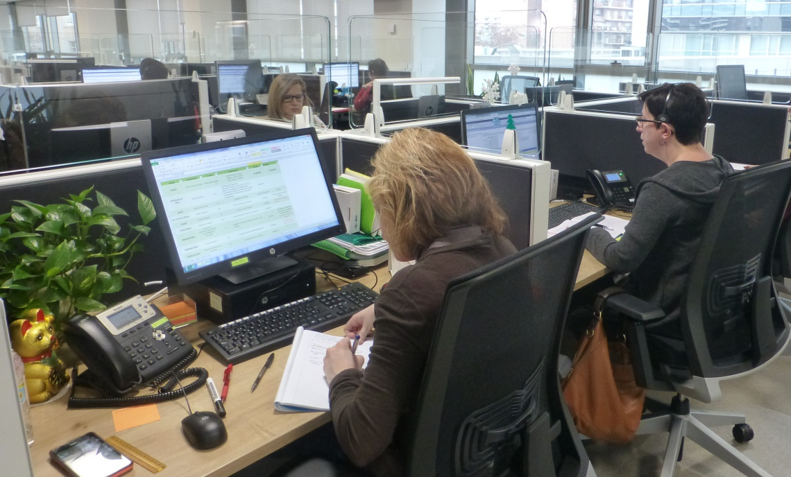 Trabajadoras del call center