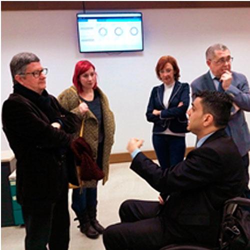 Visita Alcalde del Prat a la Fundación Integralia