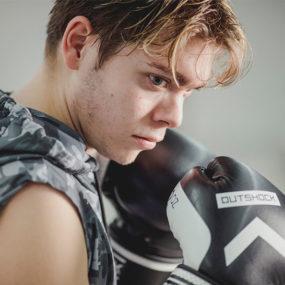Boxeador con una discapacidad