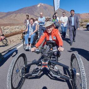 Ascenso al Teide de Gema Hassen por una buena causa