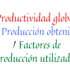 formula productividad global