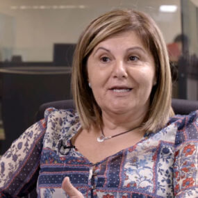Mari Arjonilla miembro del call center de Barcelona