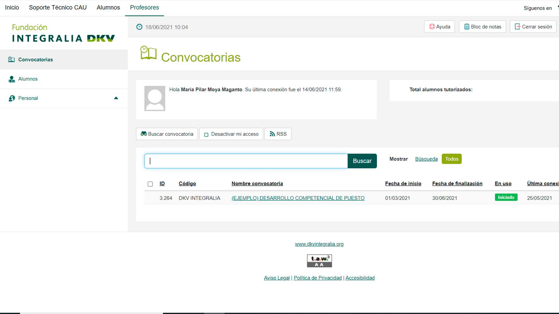 plataforma formativa online Escuela Integralia